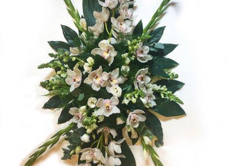 Rouwarrangement 'Orchidee Levenswiel'