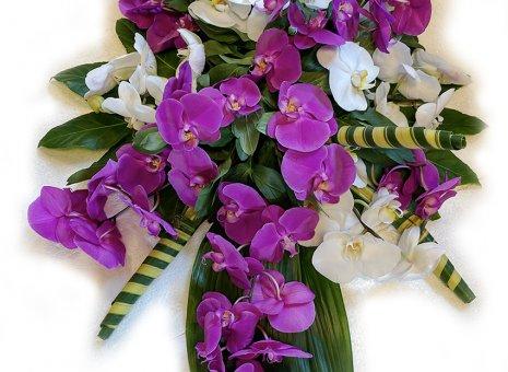 Rouwarrangement 'Pink-Blanche' (orchidee)