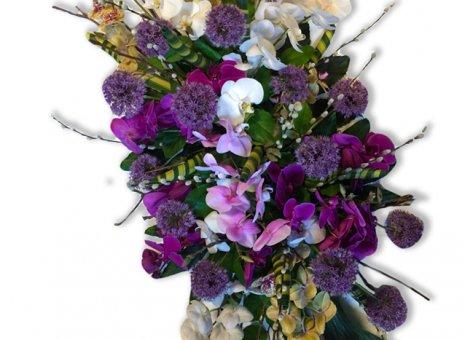 Rouwarrangement 'Orchidee Paradijs'