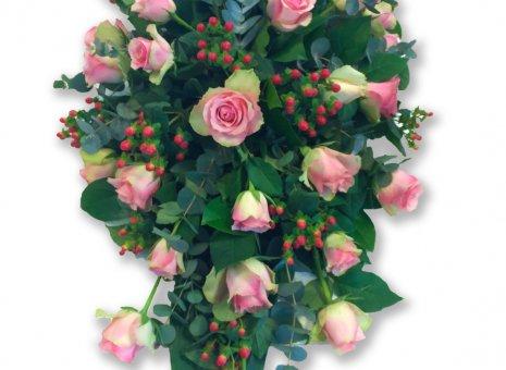 Rouwarrangement 'Roze Elegantie'