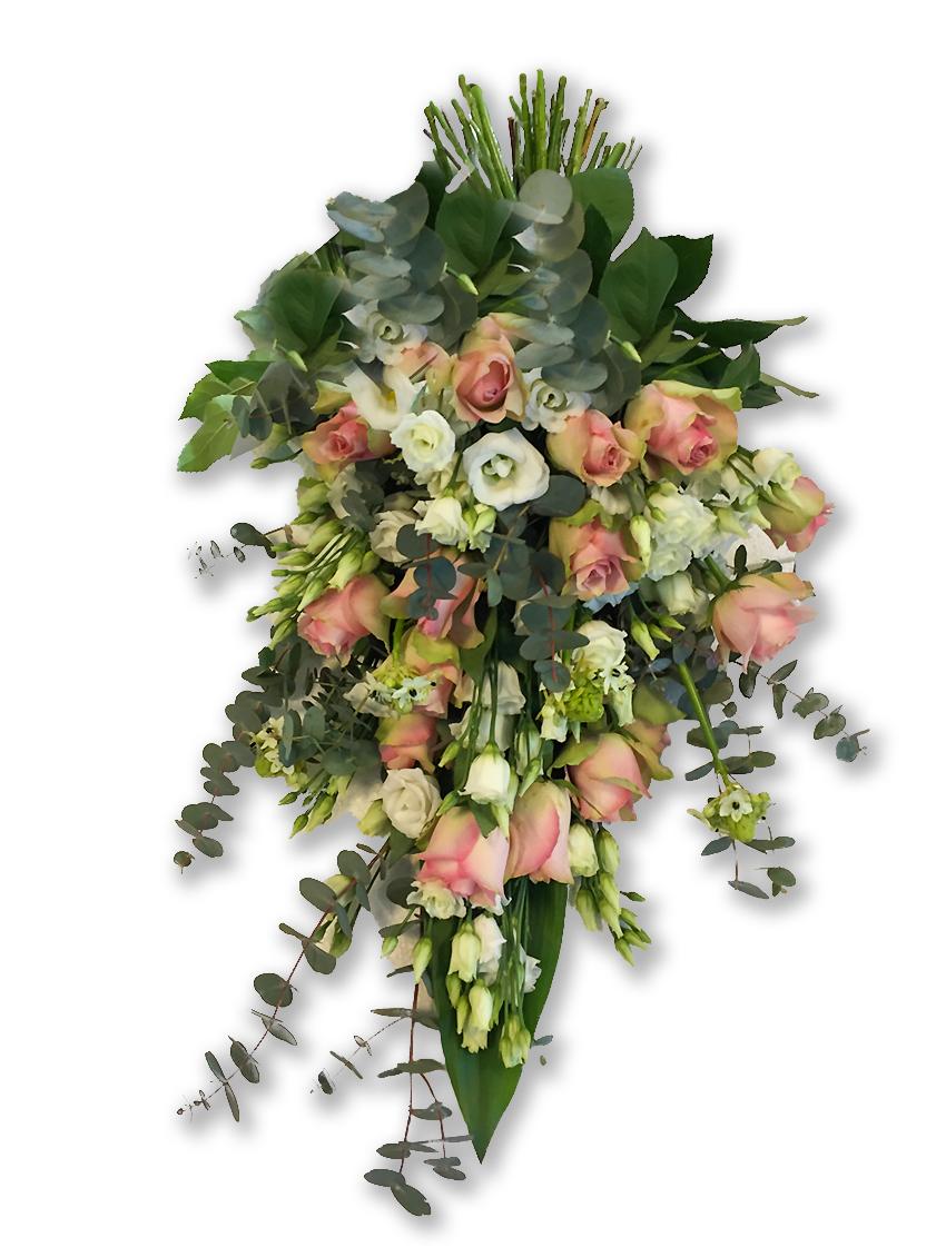 Rouwboeket Zachtroze Wit Voort Bloemen