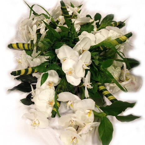 Rouwarrangement 'Blanche' (orchidee)